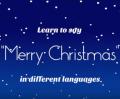 Veselé Vánoce v různých jazycích